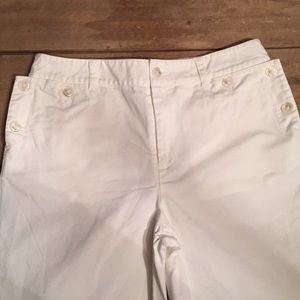 Lauren Ralph Lauren Pants - Lauren Ralph Lauren white nautical pants. Size 4